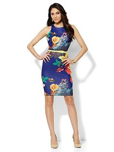 Shop Scuba Sheath Dress - Floral Print. Find your perfect size online at the best price at New York & Company.
