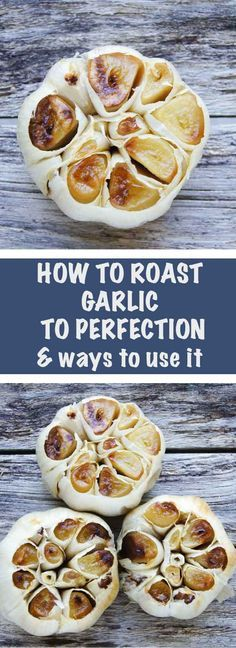 Roast Garlic and Stay Healthy All Year. Soft, buttery with wonderful, nutty notes Roasted Garlic on crispy toast is my kind of heaven. Perfect to flavor sauces, mashed potatoes or any meat. Tastes amazing and does good things to you! Garlic Recipes, Vegetable Recipes, Vegetarian Recipes, Cooking Recipes, Healthy Recipes, Cooking Tips, Cooking Videos, Meat Recipes, Chicken Recipes