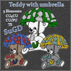 Dagny`s Scrap und Grafik Design: CU4CU/CU/PU Teddy with umbrella