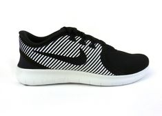 e878f48d0c72 Nike men s Free RN Commuter running shoes sneakers trainers Black White  NIB!  Nike