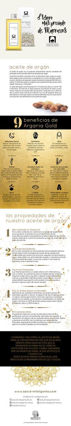 Beneficios del aceite de Argán de Argania Gold #aceitedeargan #arganiagold #saludinteligente