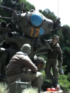 """GANS the Crybaby"" By tano-kuma tano くま WAVE Ma.K. 1/20 scale SK602 Gans.  #Ma_K #Maschinen_Krieger #diorama"