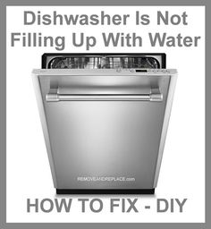 Dishwasher Is Not Filling Up With Water – How To Fix