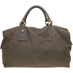 Buy Barbour Wax Cotton Travel Explorer Holdall, Olive Online at johnlewis.com