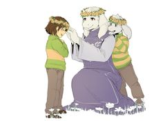 See you are royal too! With a crown and everything. Asriel Dreemurr , chara e toriel Undertale Ships, Undertale Cute, Undertale Fanart, Undertale Background, Sans Papyrus, Evil Demons, Tag Art, Anime, Funny Comics