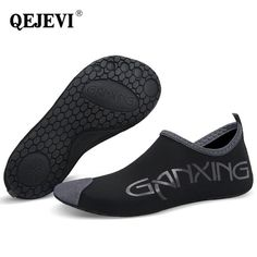 2018 QEJEVI Barefoot Water Skin Shoes Women Men Black Swim Pool Shoe Beach  Yoga Soft Aqua Socks Outdoor Walk Footwear Sneaker Review d2f4953c4a4b