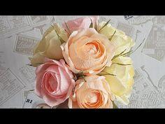 Как я делаю цветы из бумаги для своих композиций DIY - YouTube