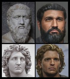 AI Renders Realistic Images of Plato & Alexander the Great from their Busts Greek History, Roman History, Women In History, World History, Ancient History, In Ancient Times, Ancient Rome, Ancient Greece, Alexander The Great Statue