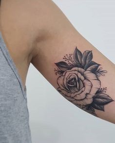 Cool rose tattoo #RoseTattooIdeas