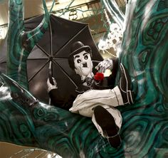 Charlie Chaplin @ It's A Hirschfeld Holiday At Henri Bendel. The Al Hirschfeld Spectacular Window And Store Decorations.