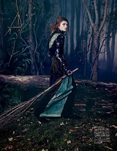 """Into the Woods,"" by Emma Summerton for Vogue Japan October 2014"