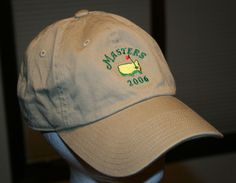 723dc7d249c Augusta National Masters 2006 Golf Cap Hat Adult size