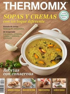 85 sopas y cremas 11 15 themomix by Victoria De Curtis - issuu How To Make Bread, Food To Make, High Protein Dinner, Cooking Brussel Sprouts, Book Cupcakes, Eat Me Drink Me, Kitchen Reviews, Tasty Dishes, No Cook Meals