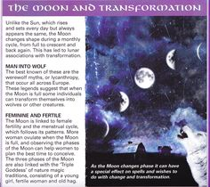°The Moon & transformation