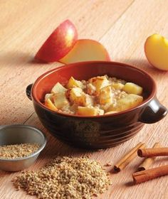 Apple Cinnamon Steel-Cut Oatmeal;  This slow-cooker recipe will fill your home with a sweet aroma in the morning that will have you rising and shining!