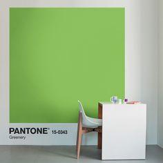 Pantone dévoile sa nouvelle couleur de l'année 2017, Greenery, une teinte fraîche et pleine d'optimisme.