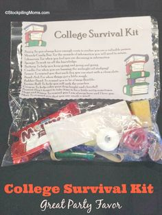 This College Survival Kit is perfect for Graduation parties! #Graduation
