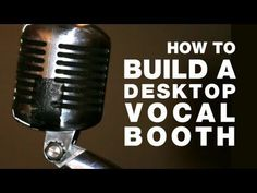 DIY tutorial on how to build a microphone isolation booth for recording voice over and singing in your home recording studio. Music Recording Studio, Recording Studio Design, Home Studio Music, Recording Booth, Sound Studio, Audio Room, Studio Setup, Studio Ideas, Recorder Music