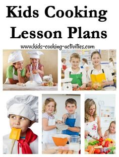 Within our kids cooking lessons are easy and fun kid recipes to teach your kids cooking. We've divided our basic cooking lesson plans into 5 age groups. Kids Cooking Activities, Kids Cooking Recipes, Cooking Classes For Kids, Kids Meals, Kid Recipes, Teaching Kids, Kids Learning, Cooking Websites, Kids Cookbook