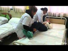 8.Pasar al paciente de la cama a la silla en reutek