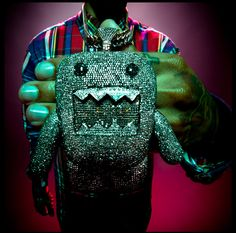 young l's domo kun iced out chain holy shit