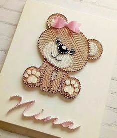 String Art - Nail board - Inspiration for you to do too - ART WITH QUIANE – Papers and Craft Patterns: String Art – Nail board – Inspiration for you to - String Art Templates, String Art Tutorials, String Art Patterns, Craft Patterns, Doily Patterns, String Art Diy, String Crafts, Yarn Crafts, Diy Crafts Hacks