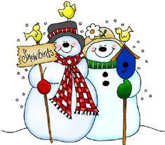 pareja de muñecos de nieve