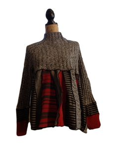 This is so cute! I call this one heading to the cabin for the holidays. One of a kind up cycled swing top is a size large, yet most mediums would
