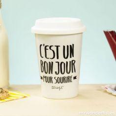 mug take away C'est un bon jour