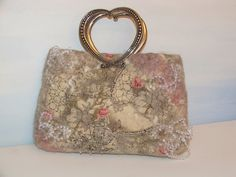 Hart for You Felted Wool bag Purse OOAK Hand made by beatassoul, $57.00