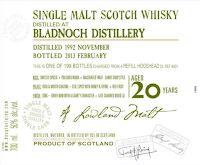 The Whisky Viking: Bladnoch 20 yo (1992/2013), OMC, 50%