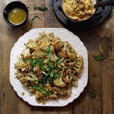 Quinoa with Roast Cauliflower and Tahini Dressing