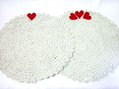 For private luncheons Crochet hot pad table mat / place by aynikki, $28.00