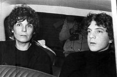 Image: Gail Harris arrives in a police car with her son John Paul Getty III in 1973 after his kidnapping ordeal