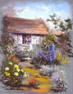 Произведения Искусства >> Breton Michel >> дом в  вне  тем  Сад