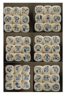 Games For Kids, Diy For Kids, Story Dice, Story Cubes, Therapy Games, Story Stones, Horse Crafts, Story Prompts, Brain Teasers