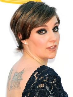 Lena Dunham. Smart, funny, making 'average size' look amazing and sexy. Being average size myself, she's got an inspired style. Love it.
