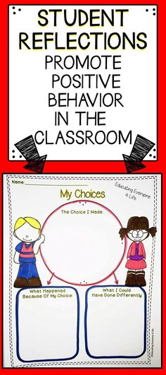 Improve your classrooms environment by using this student reflection sheet. Students will fill in the graphic organizers and problem solve to find solutions to negative behaviors.