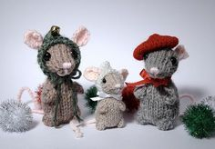 Holiday Mice Wow, I must have been really inspired, because the pattern is done and ready! Of course, these little fellas only take a co...