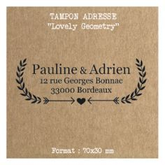 Tampon mariage adresse Lovely Geometry