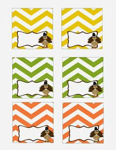 FREE Thanksgiving Dinner Printables - Place cards