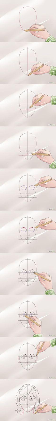 Como dibujar//Cara