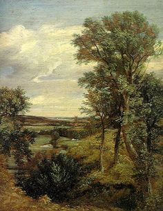 Dedham Vale by John Constable, 1802 #art #painting