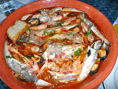 Brodetto is a fish and tomatoes soup, a meal originally associated to life on board, it is considered a culinary symbol of the Adriatic coast. In the past fishermen used to prepare. #FrancescoBruno