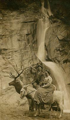 Under the Waterfall by WonderfullyStrange, via Flickr  old photo