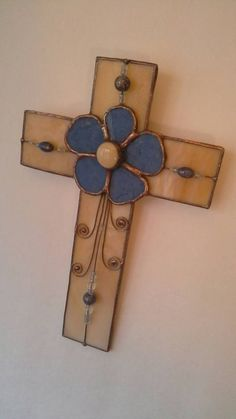 Stained Glass Cross by StewArtStuff on Etsy