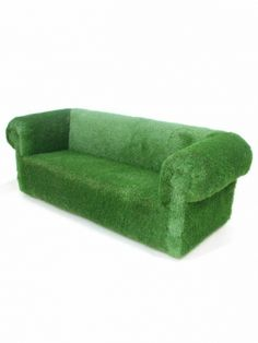 Artificial Grass sofa. Available to for purchase from www.evergreendirect.co.uk. Perfect quality, Great Prices!