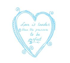 Love is Louder, Aqua Art Print