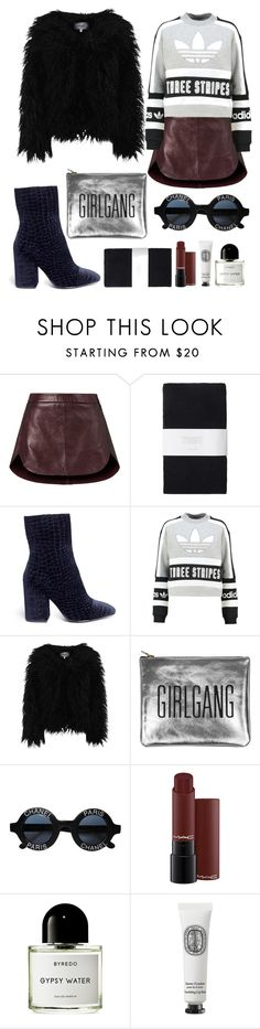 """Leather Skirt"" by natalijagrig ❤ liked on Polyvore featuring Michelle Mason, Toast, Ash, adidas Originals, Dry Lake, Sarah Baily, Chanel, Byredo, Diptyque and skirt"