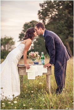 Farm wedding with vintage paper table runner #wedding #diywedding http://www.jophotoonline.com